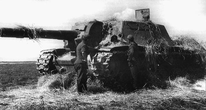 установка СУ-152 подбитая