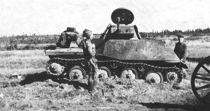 схема шасси Т-40